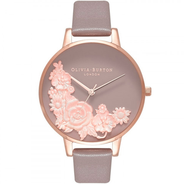 Olivia Burton Floral Bouquet London Grey and Rose Gold-35