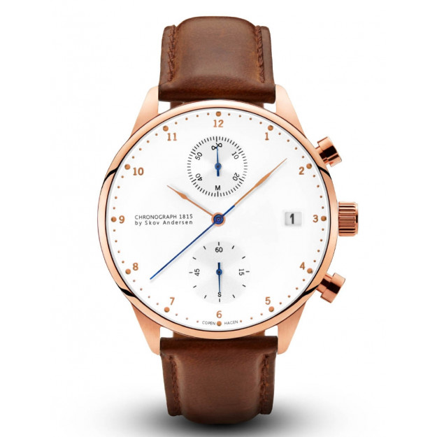 About Vintage 1815 Rose Gold Chronograph Brown Strap-30
