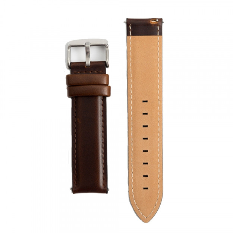 Luksus brun læderrem 18 mm.-30