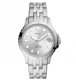 Fossil Three-Hand Date Silver ES4744-049