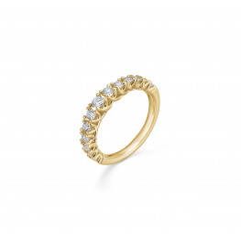 Mads Z Crown Princess Ring 14 kt. Guld m. 0,50 ct.-05
