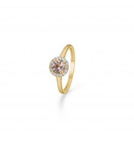 Mads Z Florence Ring 14 kt. Guld m. Morganit and 0,10 ct.-03