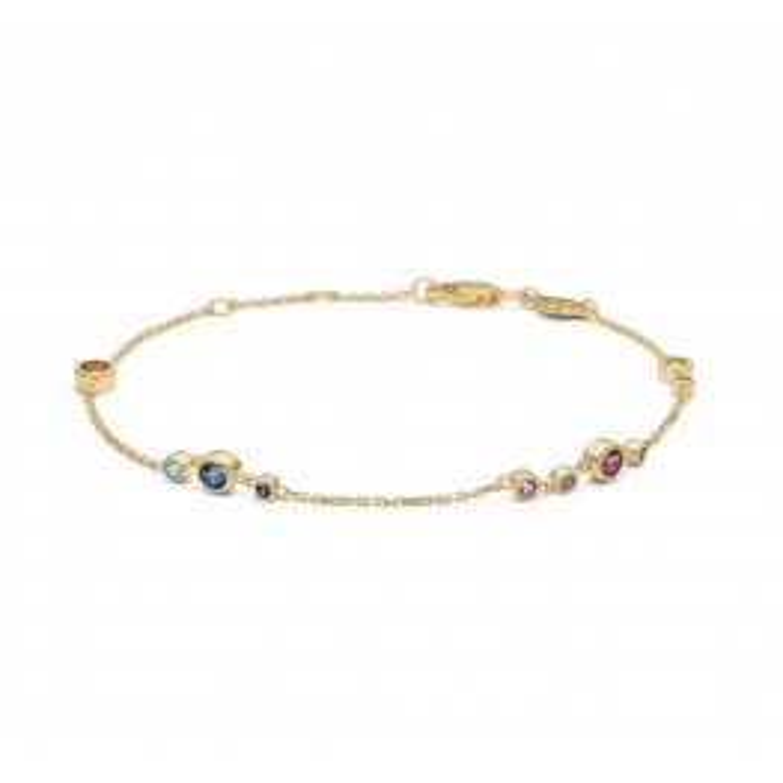Mads Z Luxury Rainbow armbånd 14 kt. Guld-03