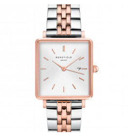 Rosefield The Boxy White Sunray Silver Rose Gold Duo QVSRD-Q014-025