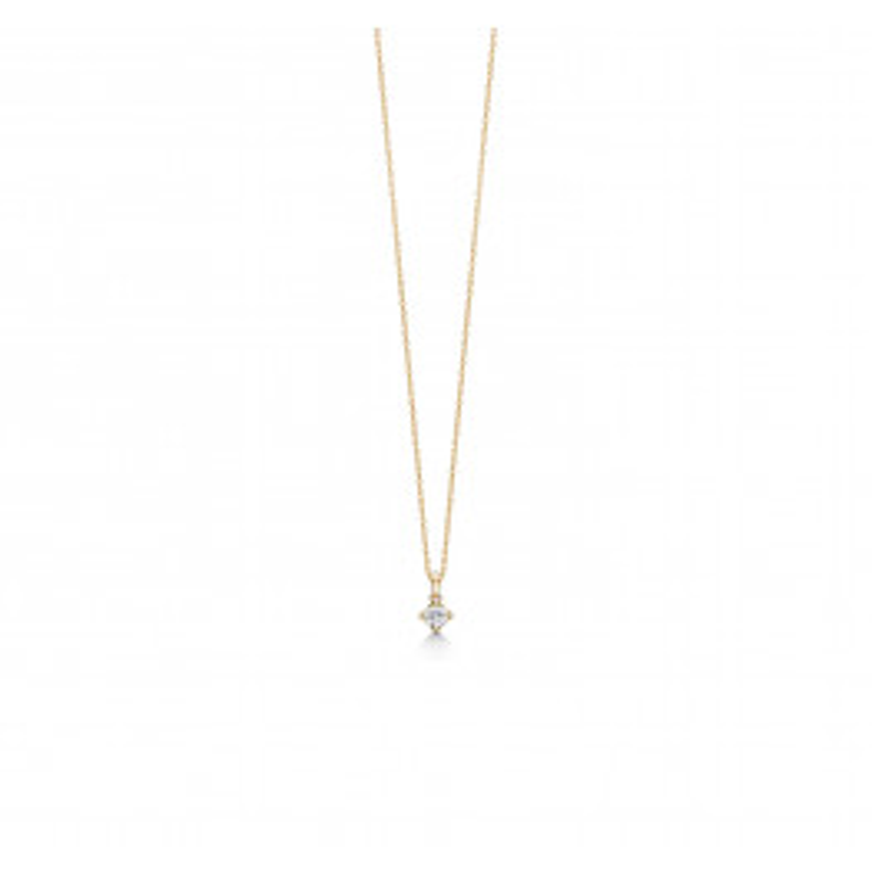 Mads Z Crown halskæde 14 kt. Guld m. 0,24ct.-02