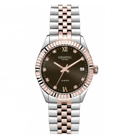 Dissing Date Sparkle 32 Two Tone Light Rose Gold/Brown-063
