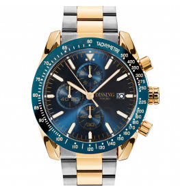 Dissing Chrono Two Tone Steel Blue/Gold-028