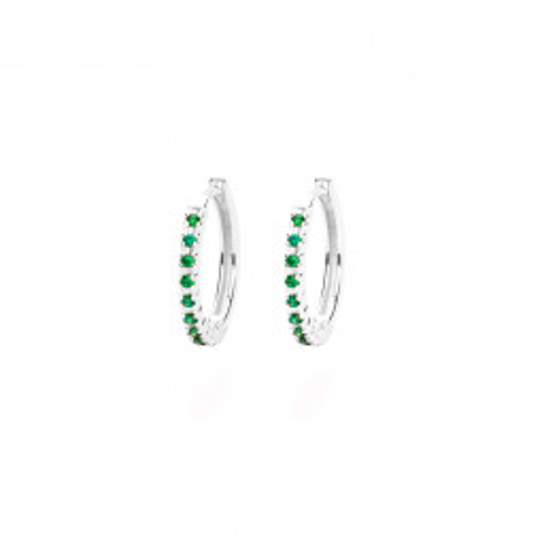 Frederik IX Studios Eternity Green sølv øreringe-012