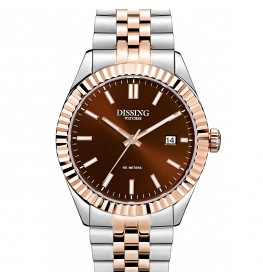 Dissing Date Two Tone Rose Gold/Chocolate Brown-038