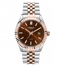 Dissing Date 36 Two Tone Light Rose Gold/Chocolate Brown-057