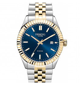 Dissing Date Two Tone Gold/Blue-036