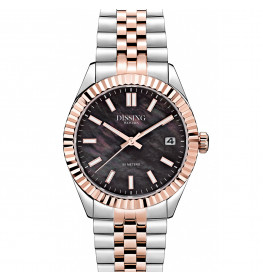 Dissing Date 36 Two Tone Light Rose Gold/Black Pearl-057