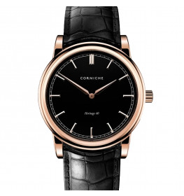 Corniche Men's Heritage 40 Rose Gold with Black Dial-043