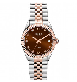 Dissing Date Sparkle 32 Two Tone Light Rose Gold/Chocolate Brown-065
