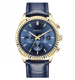 Dissing Date Chrono Leather Blue-05