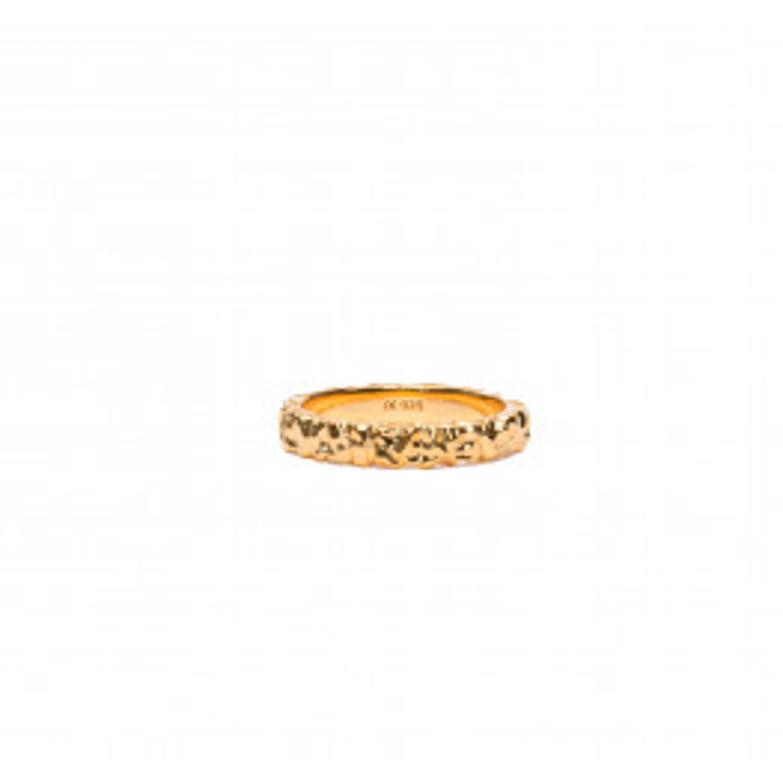 Frederik IX Studio Crunchy Class Ring Forgyldt-03