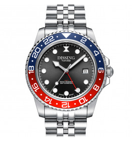 Dissing Diver GMT Silver/Black/Red-06