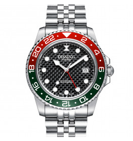 Dissing Diver GMT Silver/Black/Green-05