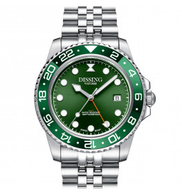 Dissing Diver GMT Silver/Green-04