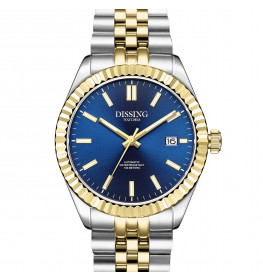 Dissing Date Automatic Gold/Steel/Blue-06
