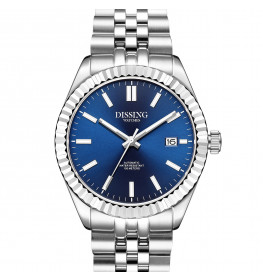 Dissing Date Automatic Steel/Blue-05