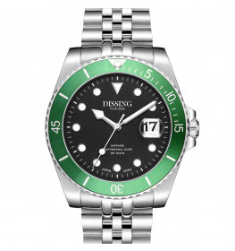 Dissing Diver Silver/Black/Green Limited Edition-05