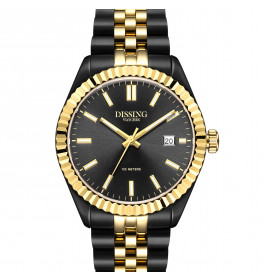 Dissing Date Two-Tone Black/Gold/Black-054