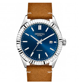 Dissing Date Leather Steel/Blue-047