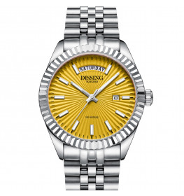 Dissing Day Date Steel Yellow-05
