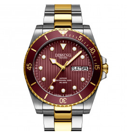 Dissing Diver Day Date Silver/Gold/Bordeaux Limited Edition-05