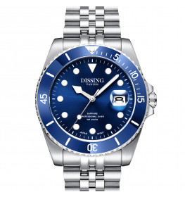 Dissing Diver Silver/Blue-059