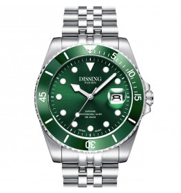 Dissing Diver Silver/Green-058
