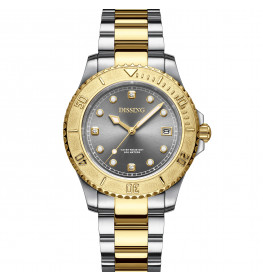 Dissing Lady Diver Two Tone Gold/Silver/Grey-07