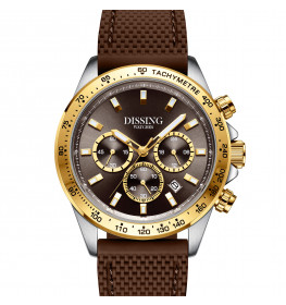 Dissing MK9 Brown/Gold Silicone Strap-05