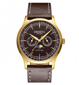 Dissing Moonphase Leather Brown Gold-06