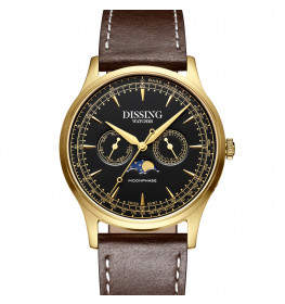 Dissing Moonphase Leather Brown Black Gold-06