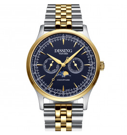 Dissing Moonphase Steel Blue Gold-06