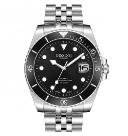 Dissing Diver Automatic Silver/Black-04