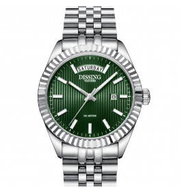 Dissing Day Date Steel Green-08