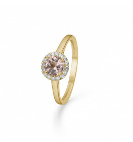 Mads Z Florence Ring 14 kt. Guld m. Morganit and 0,10 ct.-010
