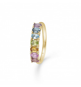 Mads Z Poetry Rainbow Ring 14 kt. Guld and Ædelsten-010