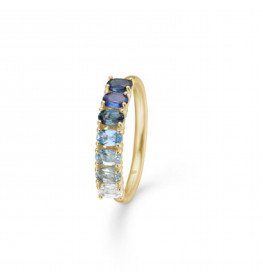 Mads Z Poetry Sapphire Ring 14 kt. Guld and Ædelsten-010