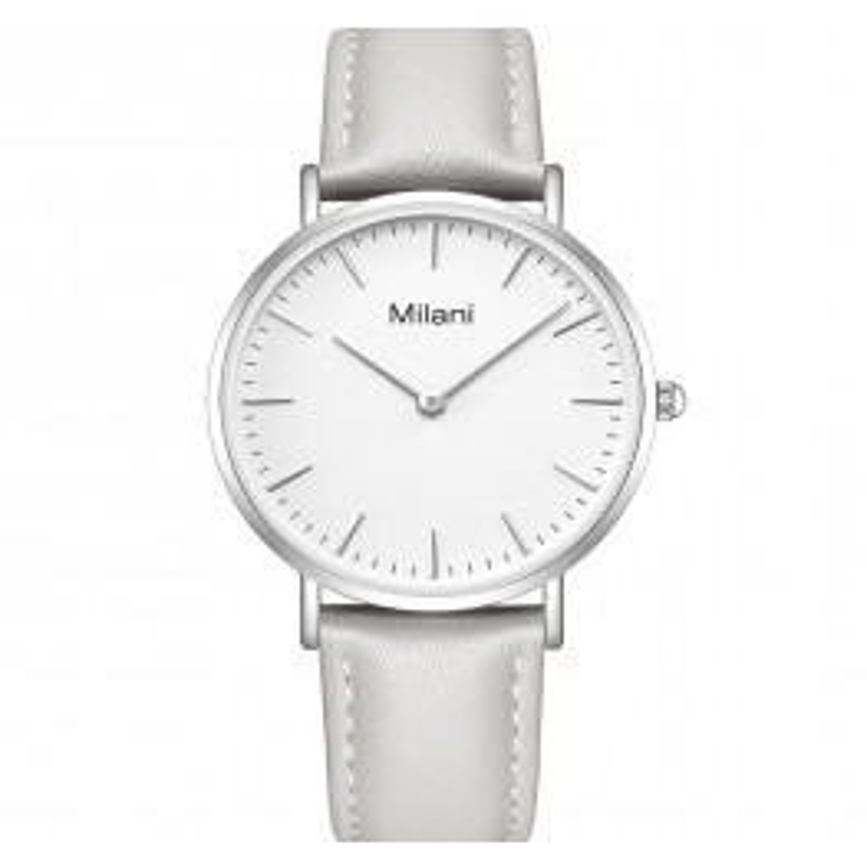 Milani Classic Grey Leather White-07