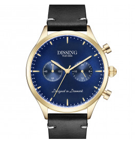 Dissing Italian Leather Blue Gold-054