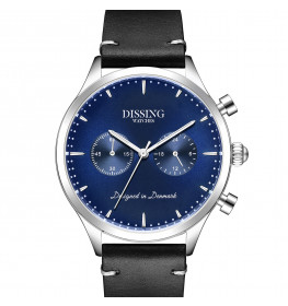 Dissing Italian Leather Silver/Blue-049