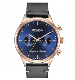 Dissing Italian Leather Blue Rose Gold-049
