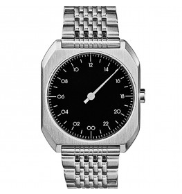 SLOW Mo02 All Silver Steel Black Dial-04