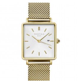 Rosefield The Boxy Gold White QWSG-Q03-027