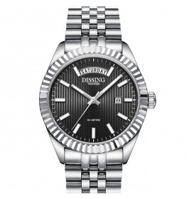 Dissing Day Date Steel Black-08