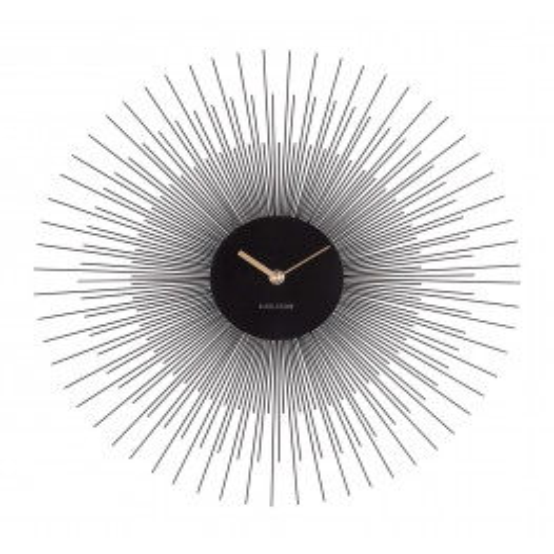 KARLSSON Wall Clock Peony Steel Black-03